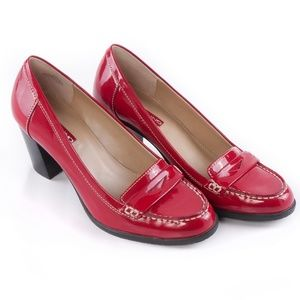 Bandolino Red Patent Loafer Pumps EUC - 8M